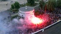 Scène de liesse à Nantes après la qualification des Bleus en finale du Mondial
