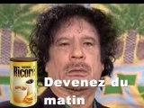 Mais que prend Kadhafi au ptit déjeuner ???