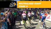 Départ fictif / Neutralised start - Étape 5 / Stage 5 - Tour de France 2018