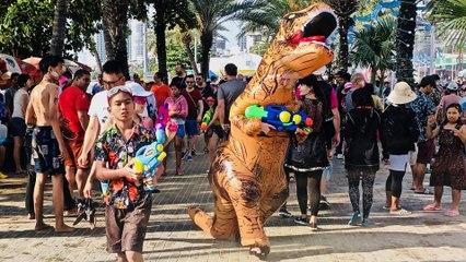 World's Biggest Water Fight ~ Songkran ~ Pattaya Thailand
