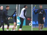 England Players Train With Rubber Chickens Ahead Of World Cup Semi-Final - Russia 2018 World Cup