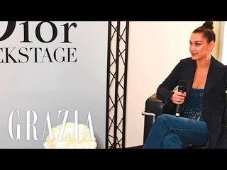 Grazia Bella Hadid Live Q&A with Dior 2017