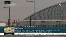Bélgica: Trump llega a Bruselas para cumbre de la OTAN