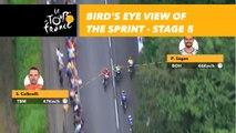 Vue aérienne sur le sprint / Bird's eye view of the sprint - Étape 5 / Stage 5 - Tour de France 2018
