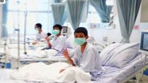 First video showing rescued Thai boys recovering in hospital