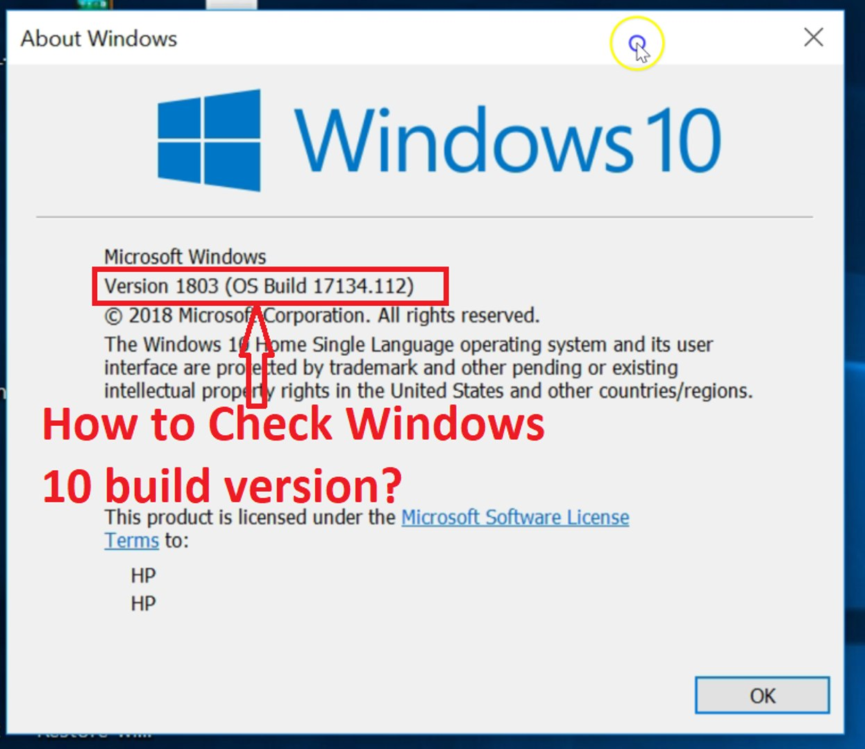 How to Check Windows 10 Build Version -2018?