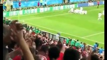 England vs Croatia 1-2 - All Goals & Highlights - World Cup 2018 HD From stands