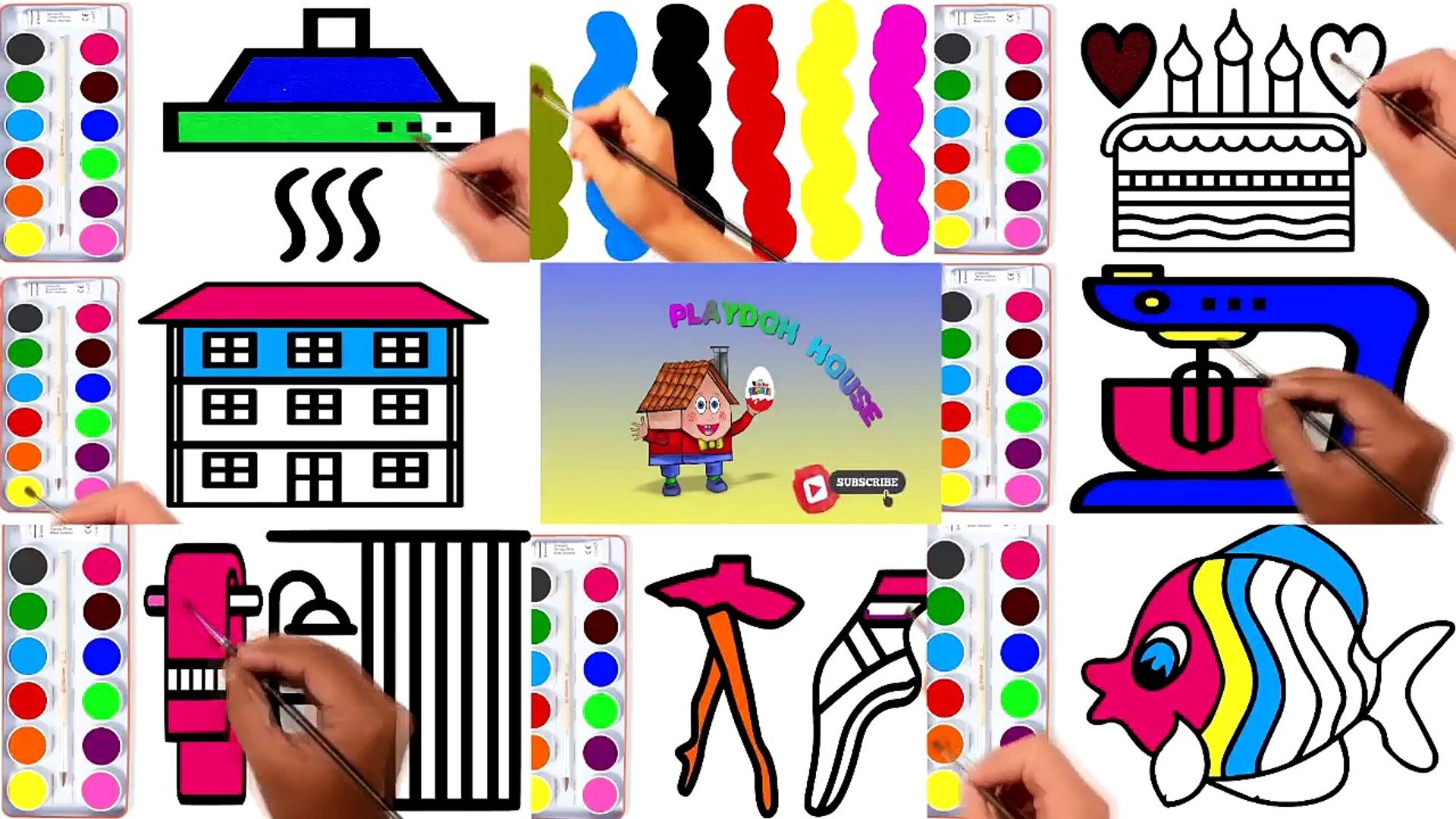 Coloring Pages | Animation Painting | Education Painting Videos for Kids
