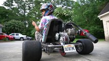 Go Kart to Time Machine Transformation! Delorean Go Kart Build