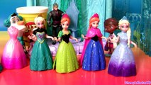 Queen Elsa Magiclip Disney Frozen Dolls Princess Anna Play Doh Design a Dress for Elsa Magic Clip