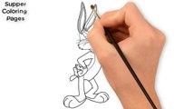 Como dibujar a Bugs Bunny paso a paso Looney Tunes How to draw Bugs Bunny Looney Tunes