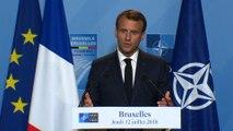 Conférence de presse du Président de la République Emmanuel Macron au sommet de l'OTAN à Bruxelles