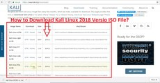 How to Download Kali Linux 2018 Version ISO File?