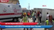 Metro inşaatında kaza