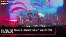 Un rappeur chute lourdement de scène pendant un concert de Gorillaz (vidéo)