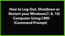 How to Remotely shutdown a Computer with Command Prompt