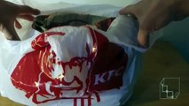 Unboxing KFC 10 Piece Bucket Meal Kentucky Fried Chicken using GoPro Hero3+ Silver with Chesty Mount
