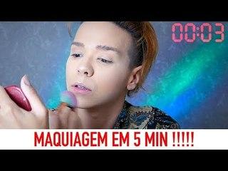 DESAFIO: MAQUIAGEM EM 5 MINUTOS !!! Por Kassyano Lopez