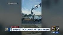 VIDEO: Suspect in crash seen fleeing after crash