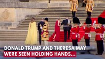 Donald Trump And Theresa May Hold Hands As President Is Greeted At Blenheim Palace