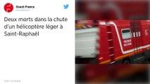 Deux morts dans la chute d'un hélicoptère léger à Saint-Raphaël.