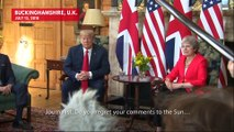 Theresa May Rolls Eyes Over Trump's Awkward Brexit Comments