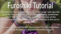 Furoshiki Tutorial: Wrapping a box in reusable fabric gift wrap (Maria's method)