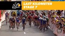 Last kilometer / Flamme rouge - Étape 7 / Stage 7 - Tour de France 2018