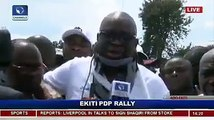 ''I Am In Severe Pain I Cannot Move My Neck, If I Am Killed The IG Of Police Idris Should Be Held Responsible'' - Fayose Cries On National TV After Police Offic