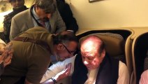 Exclusive Footage of NAB and Rangers Arrested Nawaz Sharif and Maryam Nawaz From Inside the Plane