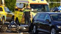 Motorrijder gewond bij botsing met auto op afrit A28