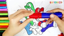 Mario and Luigi coloring pages - Super Mario and Luigi for Kids