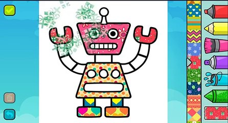 Funny Robot Coloring Pages for Children