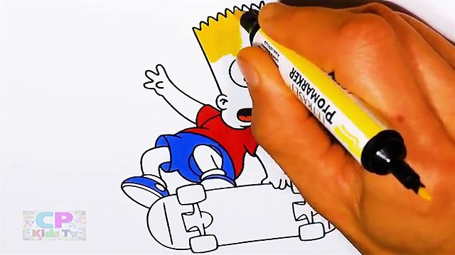 Bart from Simpsons Coloring Pages for Kids 4 , How to Color Bart fom Simpsons Coloring Pages