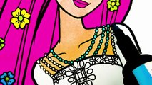 Barbie Fashion Coloring Pages #2 Coloring Book Video For Children Learn Colors kids Coloriage Barbie