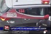 Registran entrega de coima a efectivo policial tras intervención