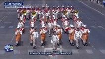14-Juillet: ils sont les seuls à défiler à leur cadence, ce sont les pionniers de la Légion étrangère