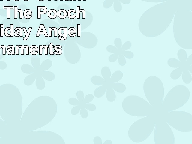 Christmas Tree Ornaments  Honor The Pooch Boxer Holiday Angel Dog Ornaments