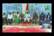 RTB/ Audience entre le président Roch Kaboré et les étalons de la diaspora Burkinabé