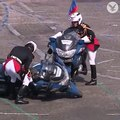 French police motorcycles crash during Bastille Day parade in Paris