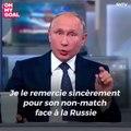 La déclaration de Vladimir Poutine suite à l'élimination de l'Espagne par la Russie