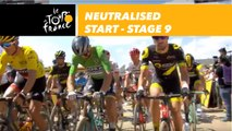 Départ fictif / Neutralised start - Étape 9 / Stage 9 - Tour de France 2018