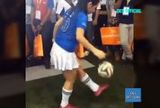 Amazing woman football player non-stop play by dancing , football play with sleeping , football play by head , girl playing football with shorts , teen girl playing football with mini skirt , wonder woman playing football