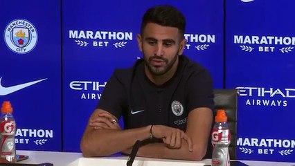 Conférence de presse de Riyad Mahrez à Manchester City
