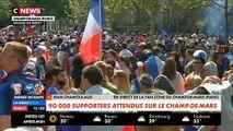 """Spécial """"Allez le Bleus"""" : Des dizaines de milliers de supporters sont déjà sur le Champs de Mars à Paris"""