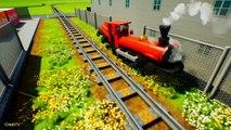 Stop The Train - Crashes Train _ Road Trains _ Transport Train _ Small Train- Brick Rigs