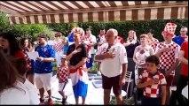 Coupe du monde : des lorrains d'origines croates entonne l'hymne de leur pays