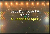 Jennifer Lopez Love Don't Cost A Thing Karaoke Version
