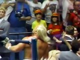 Hulk Hogan vs Randy Savage (Their first documented match) - WWE WWF Wrestling Fight Fighting Match Sports Macho Man