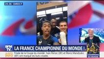 Coupe du monde: c'est la fête, la grande fête, dans le vestiaire des Bleus